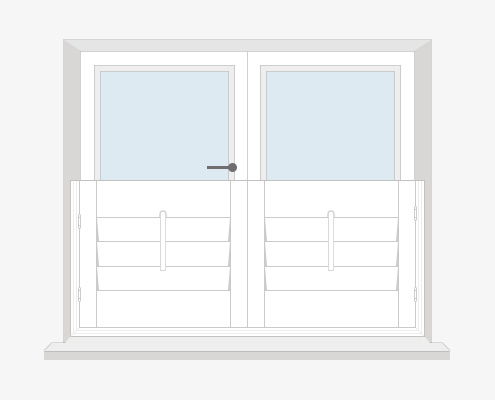 How to Measure Your Windows for Cafe Style Shutters - Inside Recess by Plantation Shutters Ltd - DIY Shutters