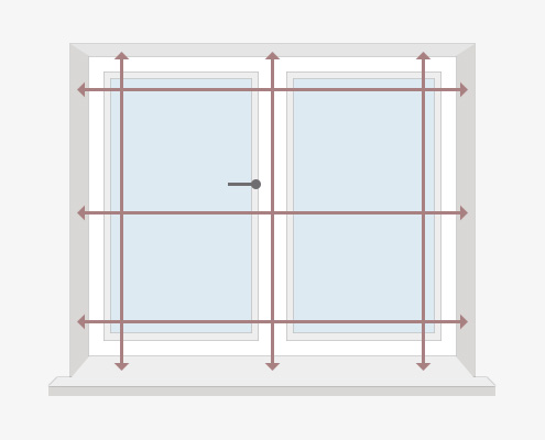 How to Measure Your Windows for Full Height Shutters - Inside Recess by Plantation Shutters Ltd - DIY Shutters