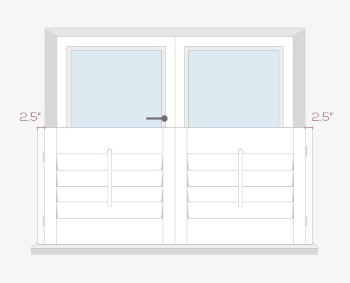 How to Measure Your Windows for Cafe Style Shutters - Outside Recess by Plantation Shutters Ltd - DIY Shutters