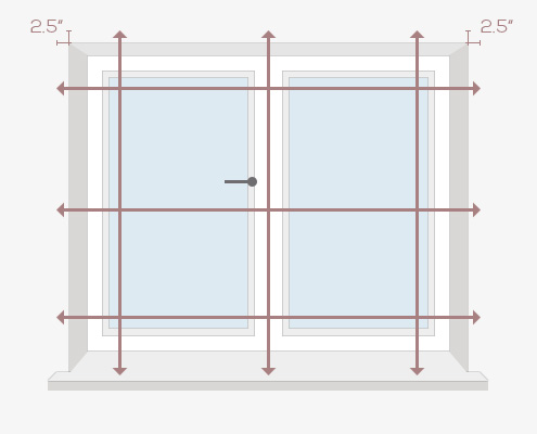 How to Measure Your Windows for Full Height Shutters - Outside Recess by Plantation Shutters Ltd - DIY Shutters
